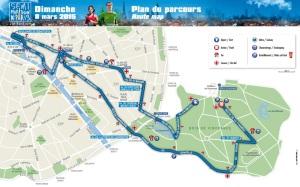 Parcours semi de paris 2015